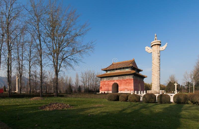 Het graf van de keizer van Dynastie Ming royalty-vrije stock afbeeldingen