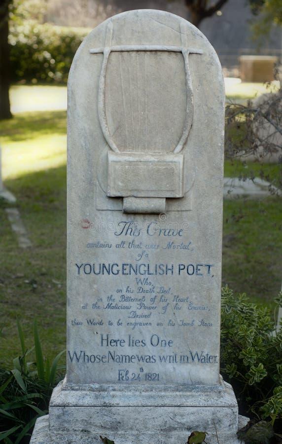 Het graf van Engelse dichter John Keats royalty-vrije stock afbeeldingen
