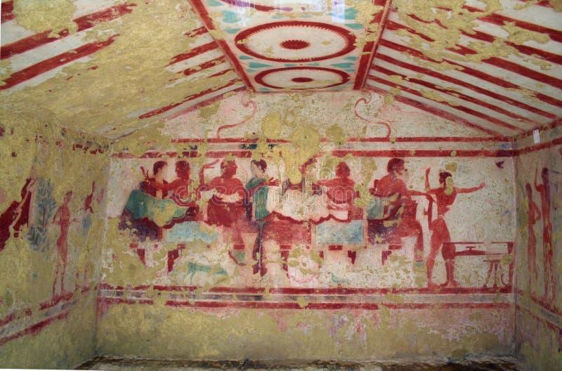 Het graf van Etruscan stock afbeelding