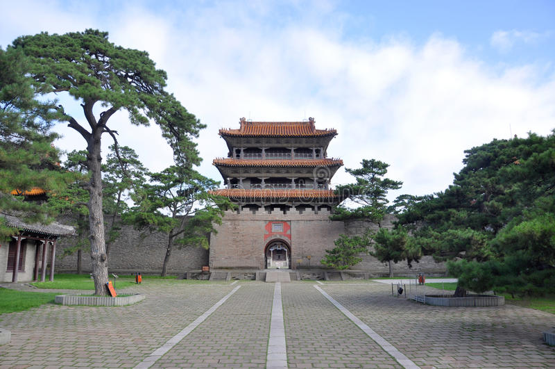 Het Graf van Fuling van Qing Dynastie, Shenyang, China stock foto