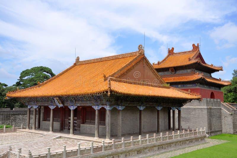Het Graf van Fuling van Qing Dynastie, Shenyang, China stock afbeelding