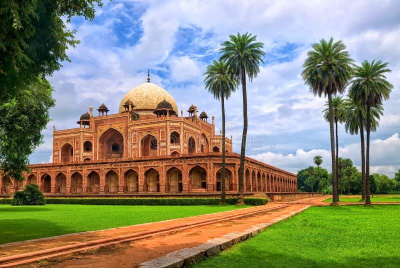 Het Graf van Humayun in New Delhi, India stock afbeeldingen