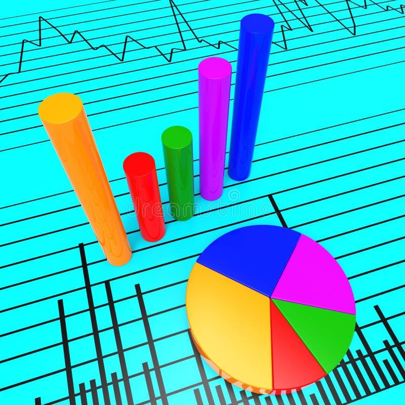 Het grafiekrapport toont het Document en de Investering van Infochart stock illustratie