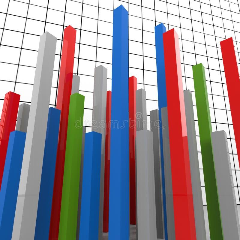 Het grafiekrapport vertegenwoordigt Grafische Financiën en Diagram vector illustratie