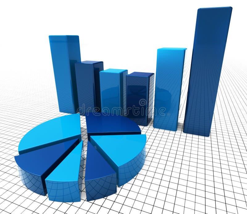 Het grafiekrapport vertegenwoordigt Informatiebedrijf en Grafisch vector illustratie