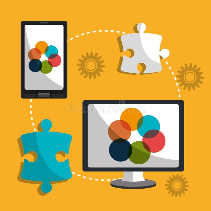 Het grafische beroep van het ontwerpwerk, vector illustratie