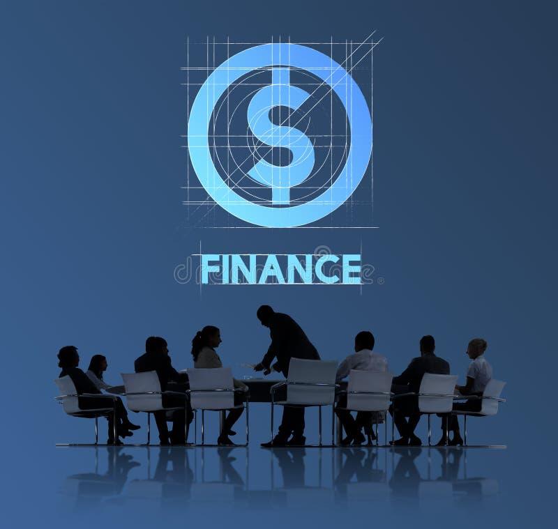Het Grafische Concept financiën van Bedrijfsgeldmensen royalty-vrije stock afbeeldingen