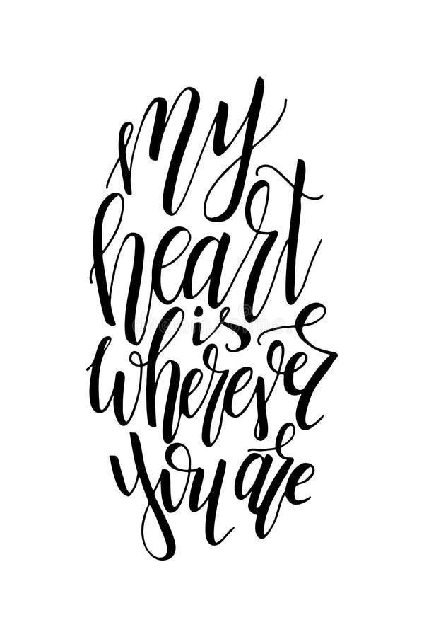 Het grafische ontwerp van de liefdeprentbriefkaar Het vector van letters voorzien voor affiche Typografisch ontwerp met creatieve royalty-vrije illustratie