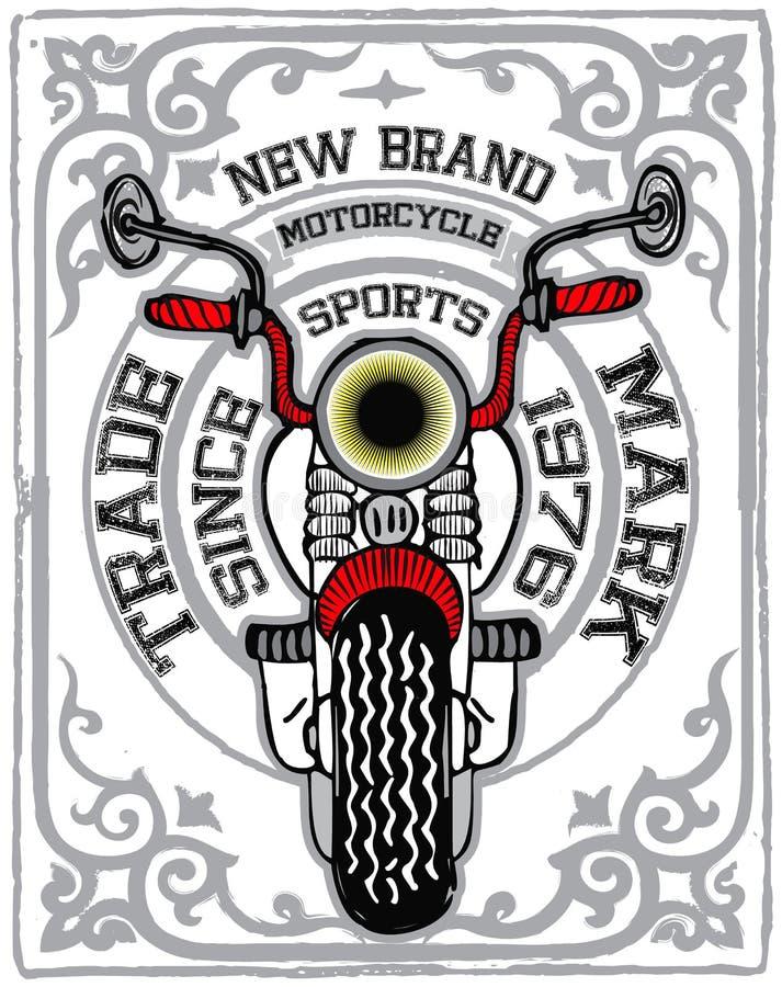 Het grafische ontwerp van de motorfietst-shirt stock illustratie