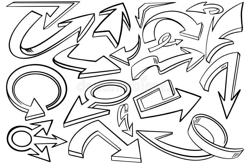 Het grafische pictogram van mengelingspijlen met sterk en gewaagd zwart overzicht royalty-vrije stock afbeelding