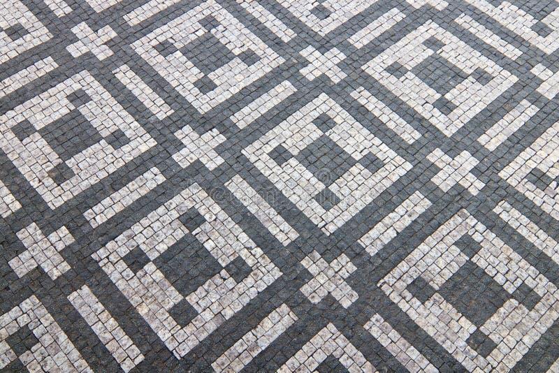 Het graniet cobblestoned patroonachtergrond royalty-vrije stock foto's