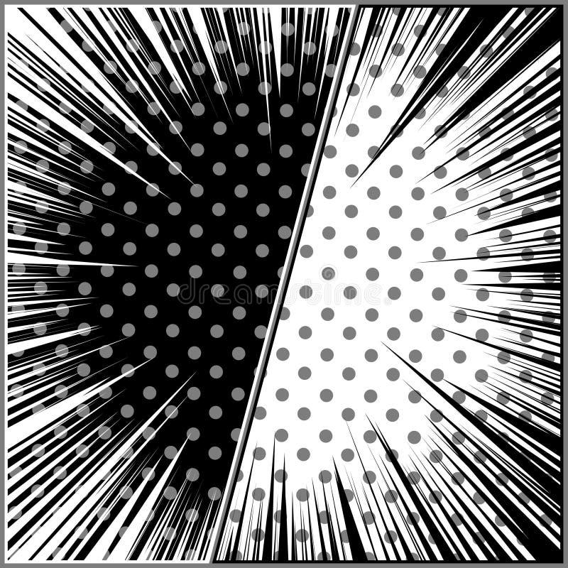 Het grappige concept van het duel zwart-wit ontwerp royalty-vrije illustratie
