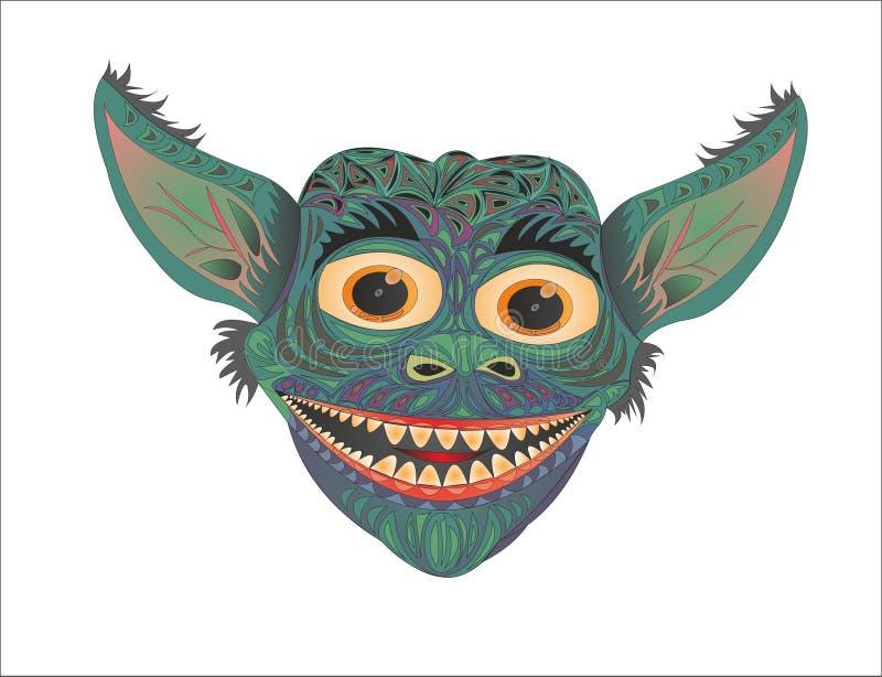 Het grappige demon van de kwelgeestglorie stock illustratie