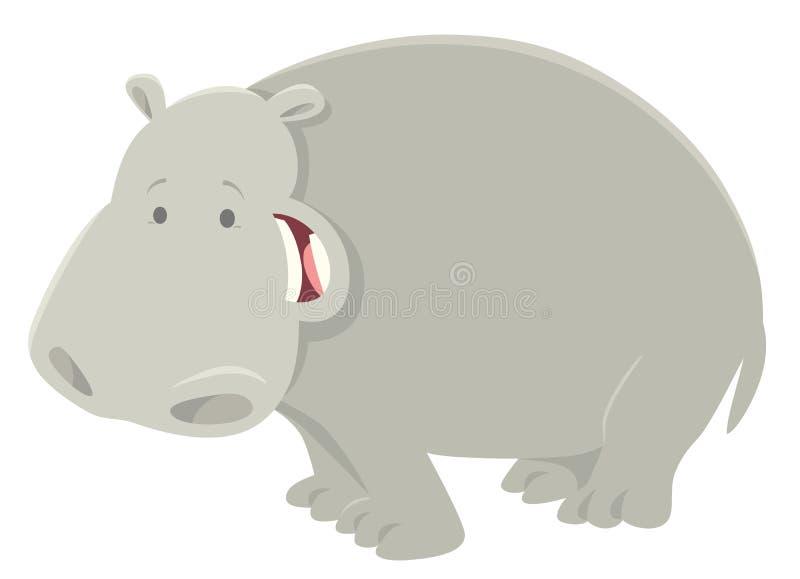 Het grappige dierlijke karakter van het beeldverhaalnijlpaard stock illustratie