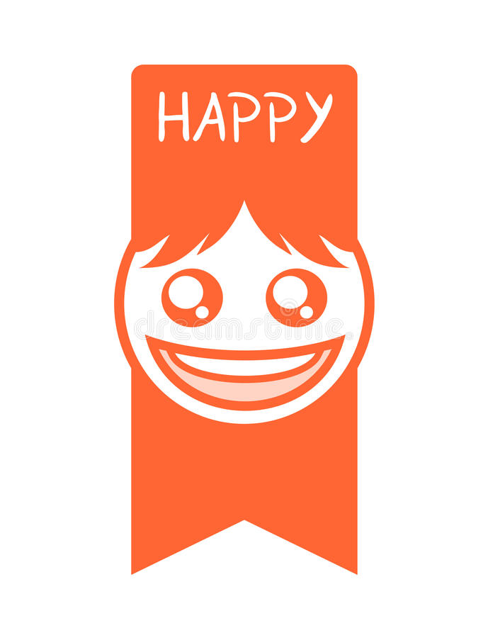 Het grappige gelukkige gezicht trekt stock illustratie