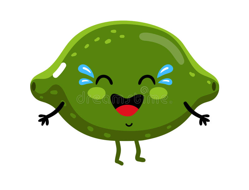 Het grappige karakter van het fruitkalk geïsoleerde beeldverhaal stock illustratie
