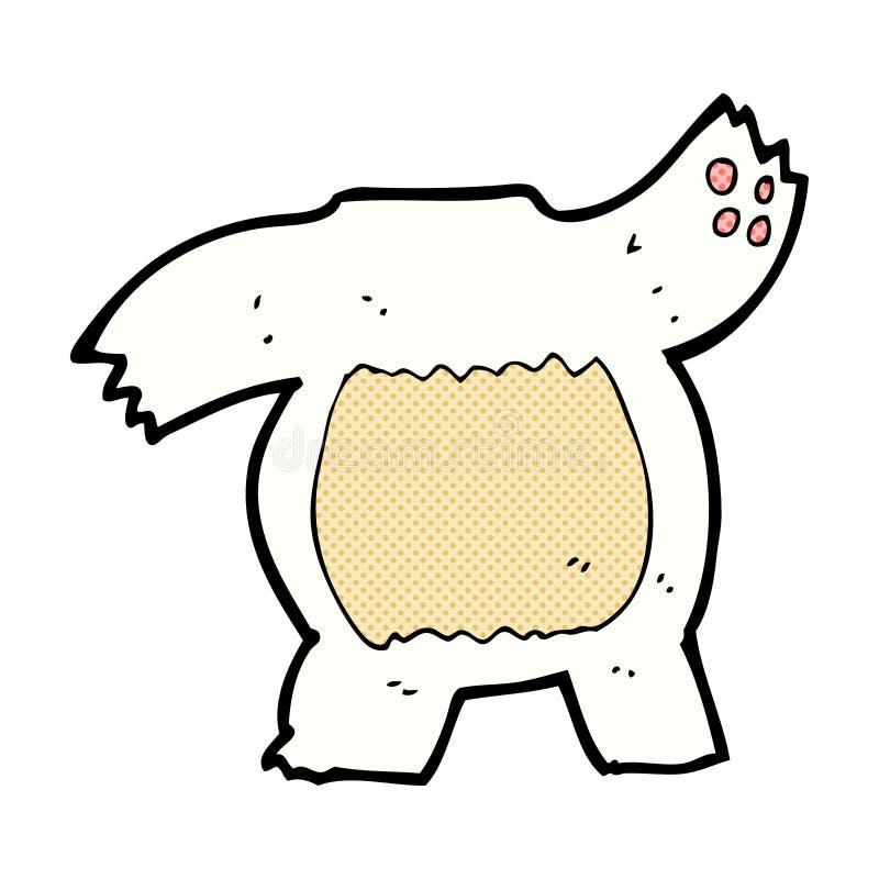 het grappige lichaam van de beeldverhaal ijsbeer (de mengeling en de gelijke of voegen eigen foto's toe) vector illustratie