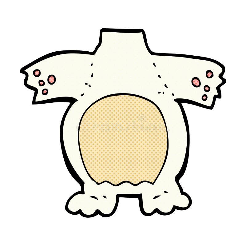 het grappige lichaam van de beeldverhaal ijsbeer (mengeling en gelijke grappige beeldverhalen of a royalty-vrije illustratie