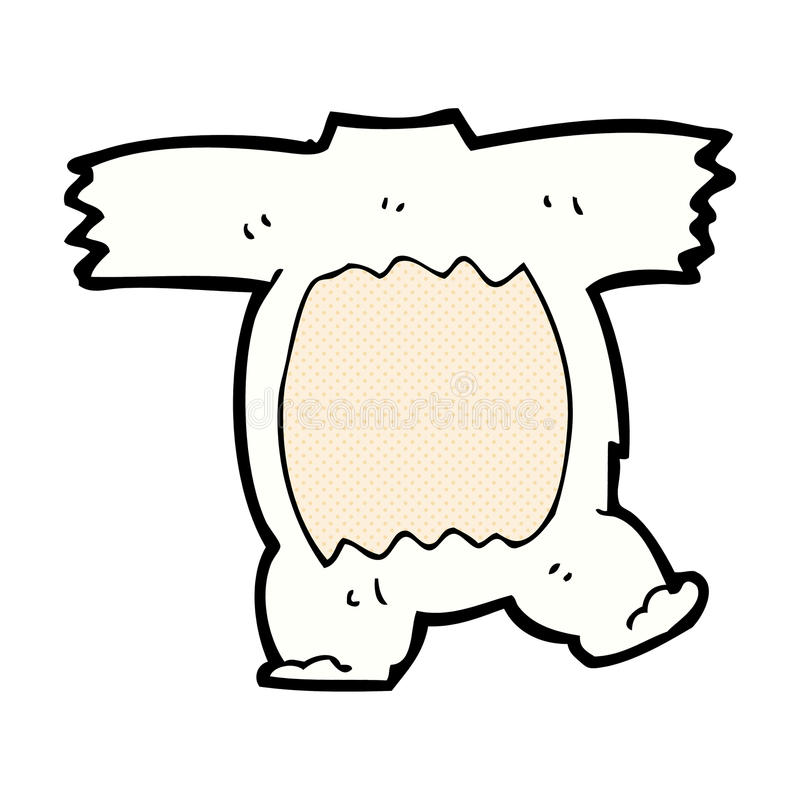 het grappige lichaam van de beeldverhaal ijsbeer (mengeling en gelijke grappige beeldverhalen) royalty-vrije illustratie