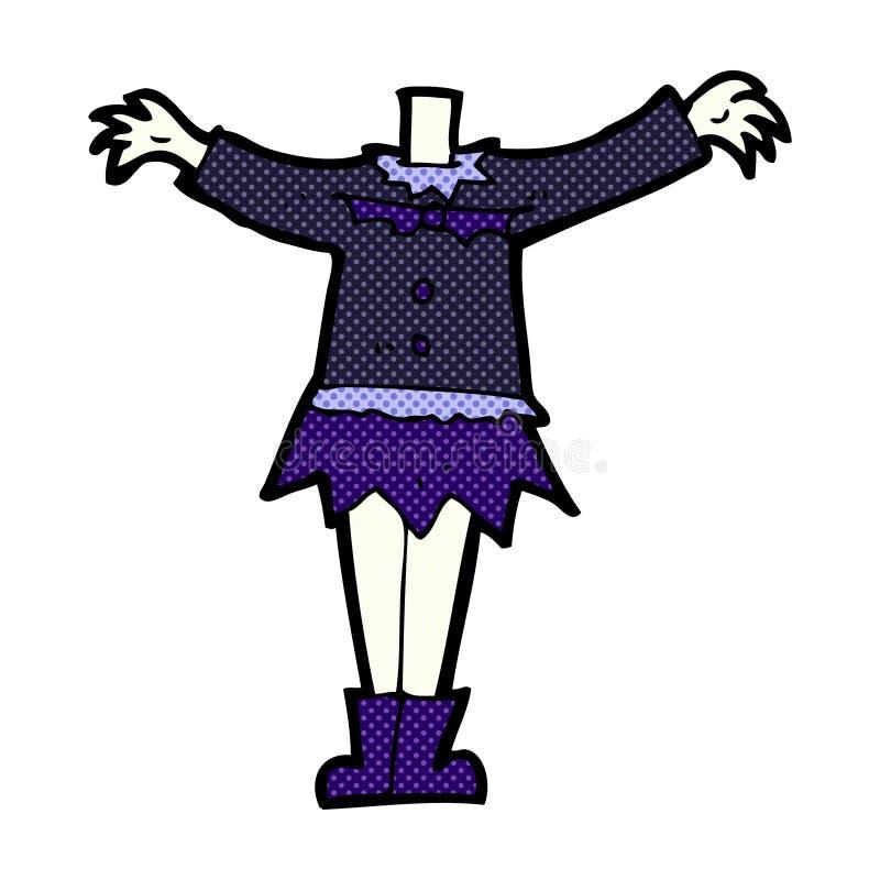 het grappige lichaam van de beeldverhaal vrouwelijke vampier (mengeling en gelijke grappige beeldverhalen royalty-vrije illustratie