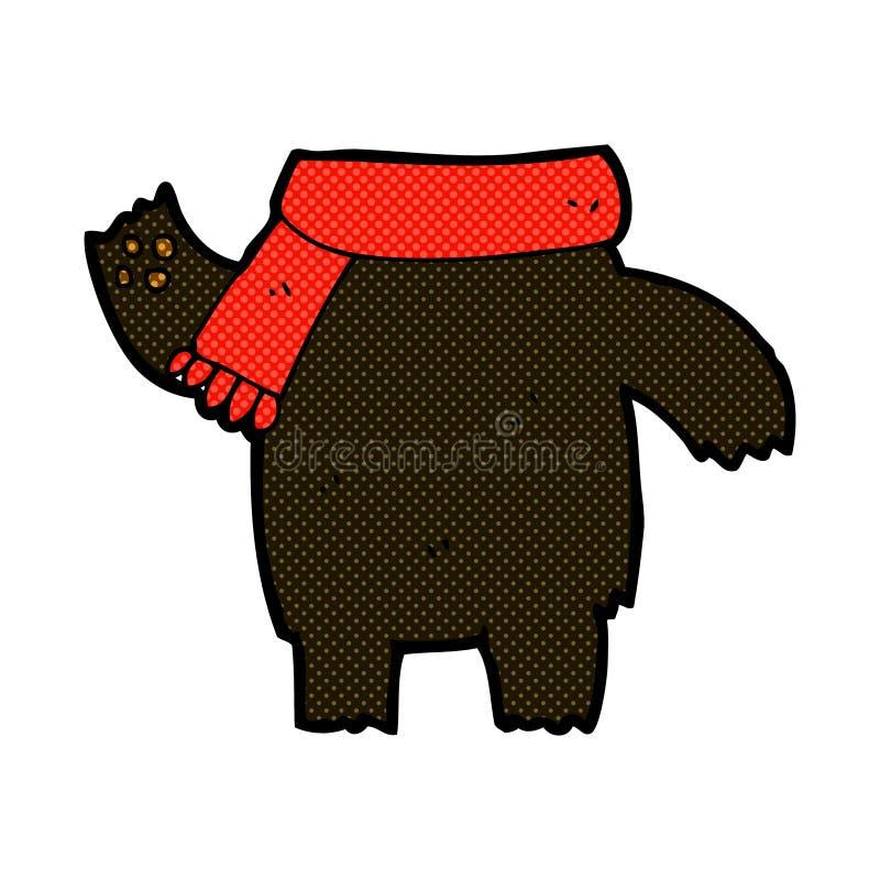 het grappige lichaam van de beeldverhaalteddybeer (de mengeling en de gelijke of voegen eigen foto's toe) vector illustratie