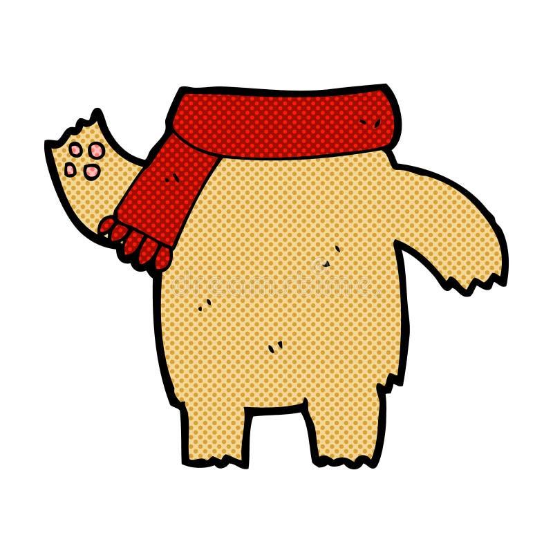 het grappige lichaam van de beeldverhaalteddybeer (de mengeling en de gelijke of voegen eigen foto's toe) royalty-vrije illustratie