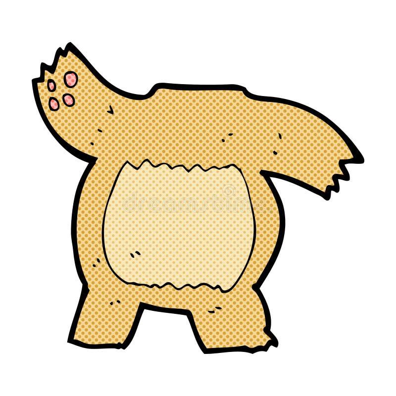 het grappige lichaam van de beeldverhaalteddybeer (de mengeling en de gelijke of voegen eigen foto's toe) stock illustratie