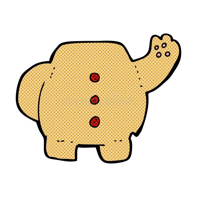 het grappige lichaam van de beeldverhaalteddybeer (mengeling en gelijke grappige beeldverhalen of a stock illustratie
