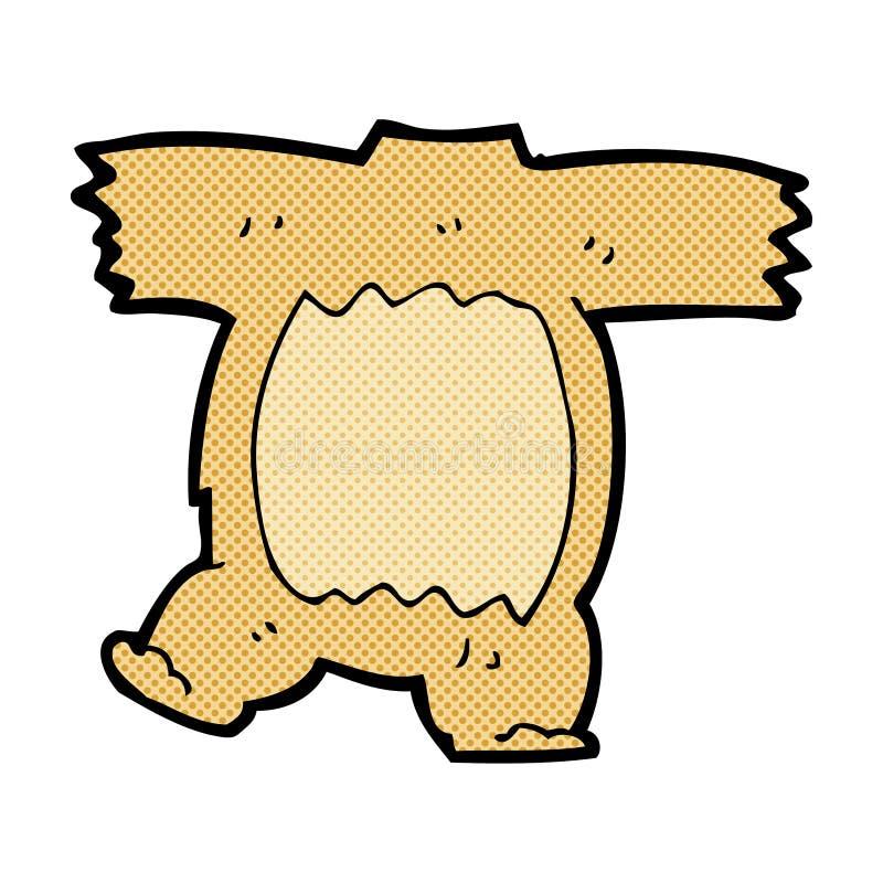 het grappige lichaam van de beeldverhaalteddybeer (mengeling en gelijke grappige beeldverhalen) royalty-vrije illustratie