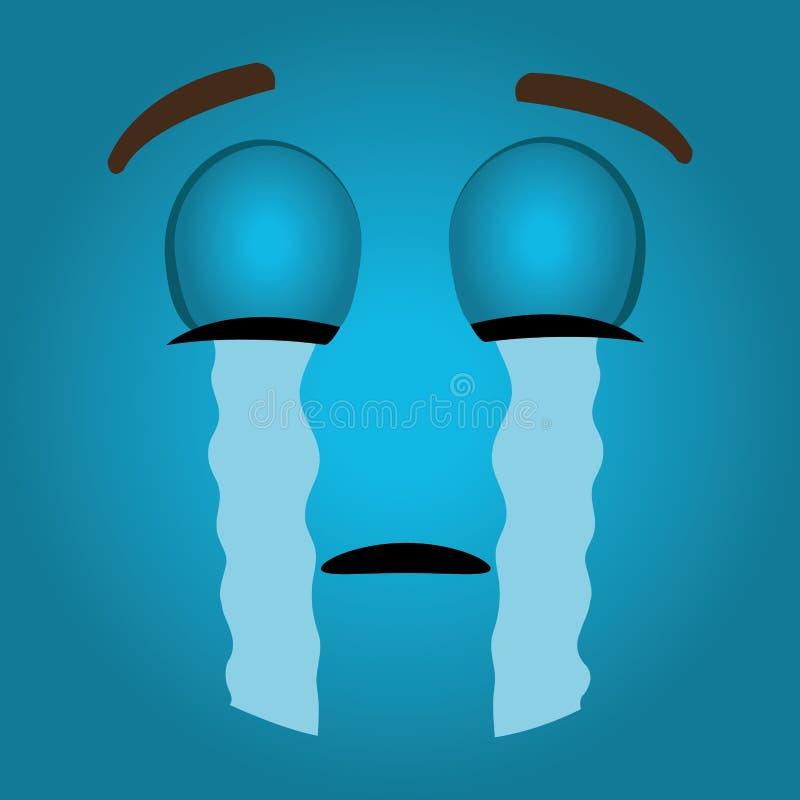 Het grappige ontwerp van het emoticonbeeldverhaal royalty-vrije illustratie