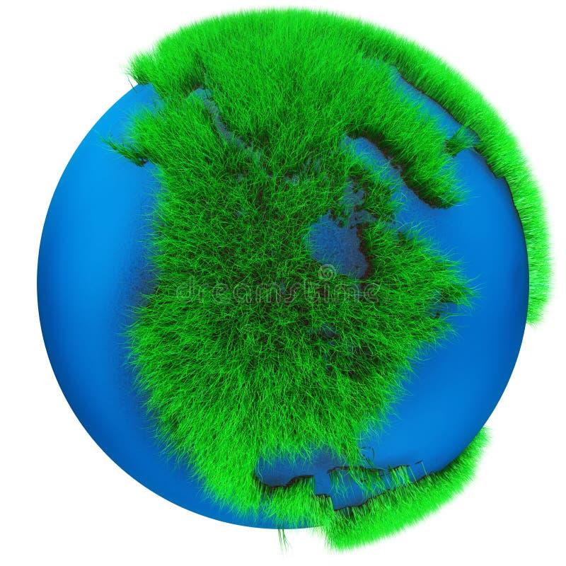 Het Gras Amerika van de aarde royalty-vrije illustratie