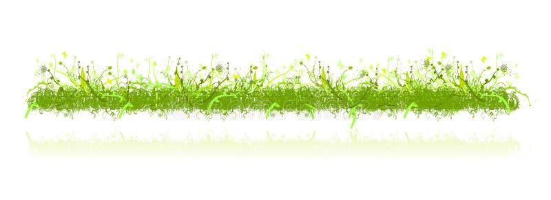 Het gras en de aardornamenten van de decoratie royalty-vrije illustratie