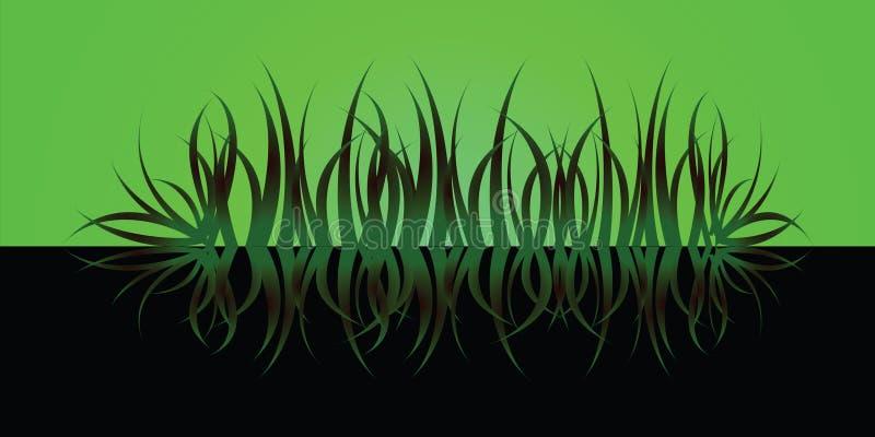 Het gras wijst op groen stock illustratie