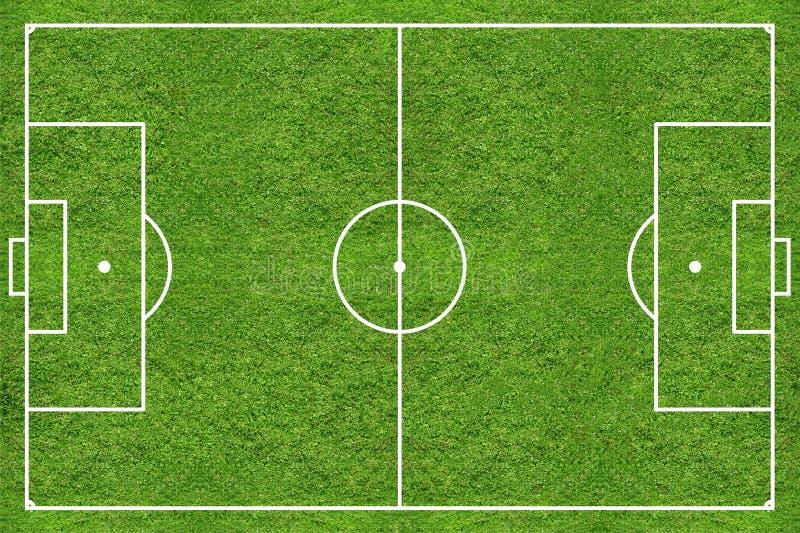 Het grasgebied van het hoge resolutievoetbal stock afbeelding