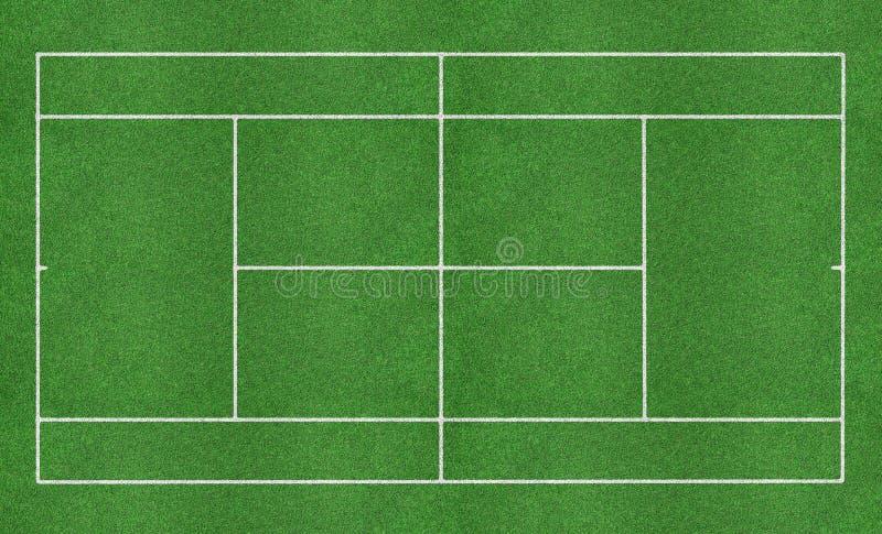 Het grashof van het tennis royalty-vrije stock foto