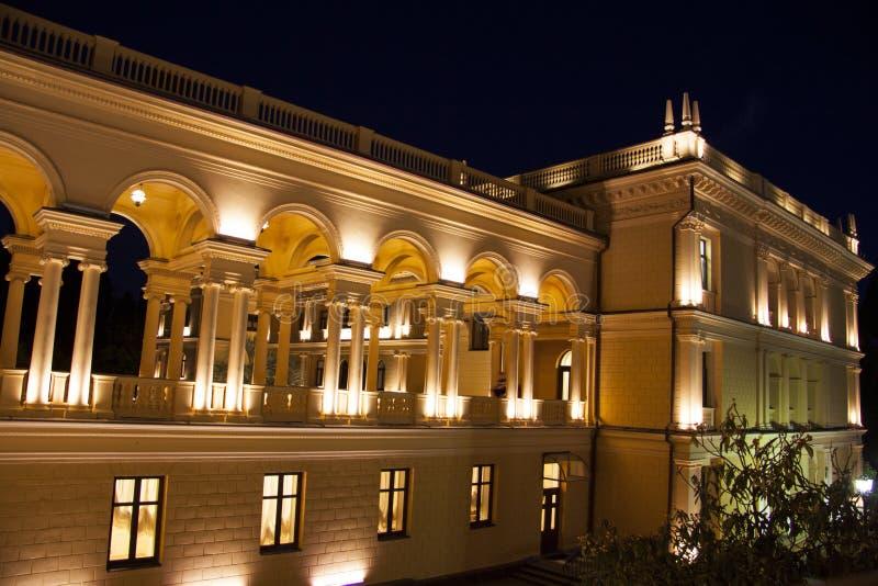 Het Grieks die nightscene bouwen royalty-vrije stock foto's