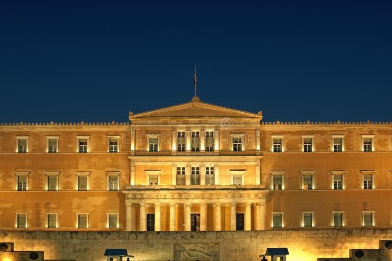 Het Griekse Parlement, Athene stock afbeelding