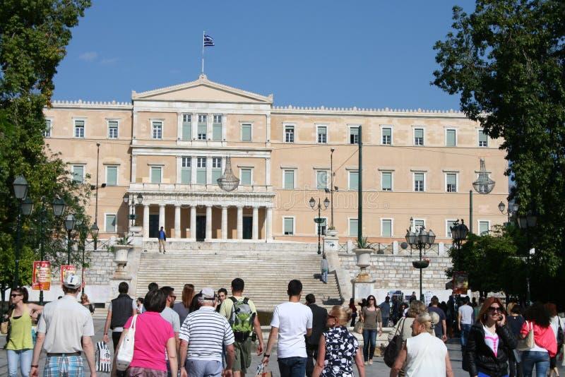 Het Griekse Parlement, Athene stock foto