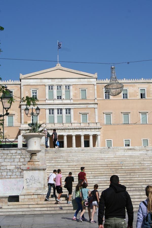 Het Griekse Parlement, Athene stock afbeeldingen