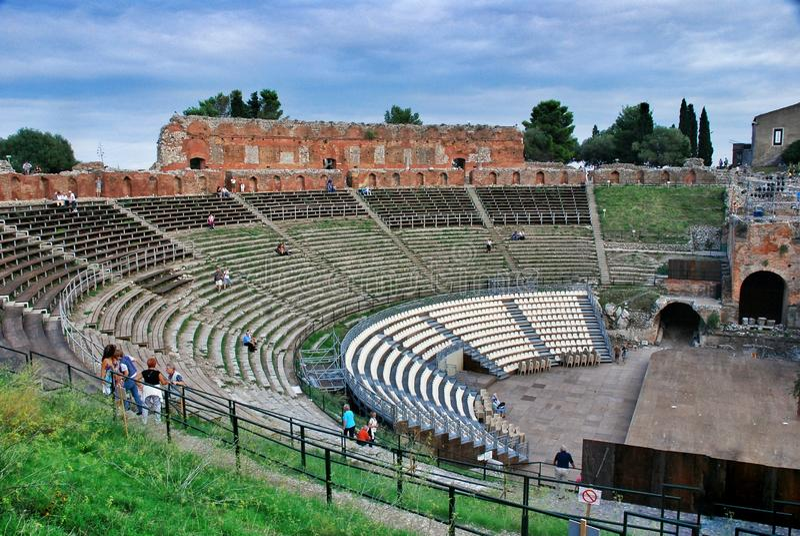 Het Griekse Theater van Taormina royalty-vrije stock afbeeldingen