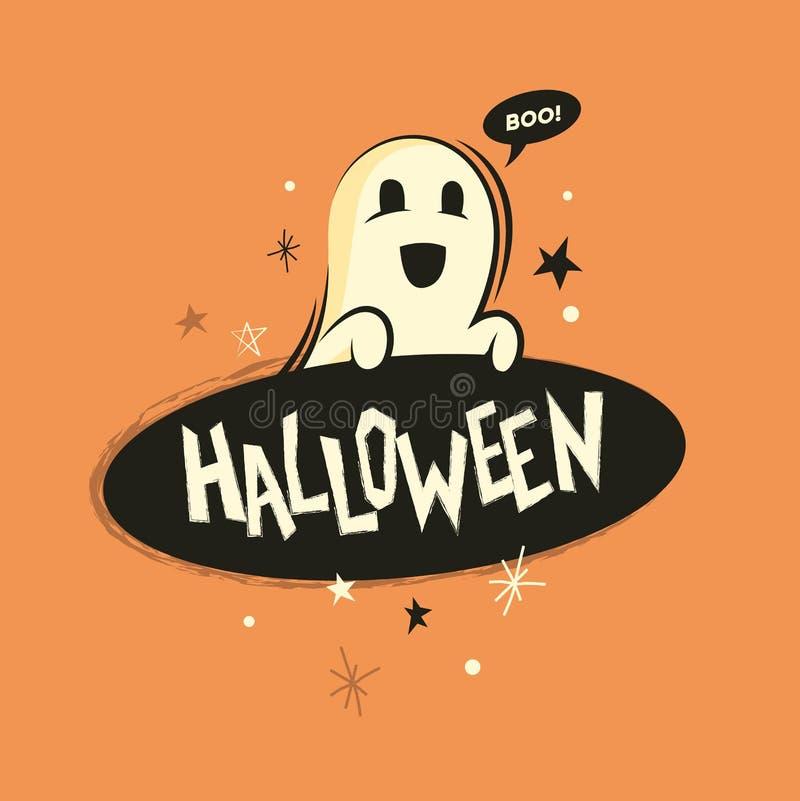 Het griezelige spook van Halloween vector illustratie