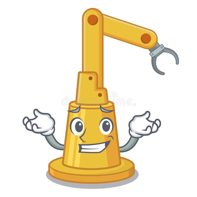 Het grijnzen de machine van de assemblageautomatisering de beeldverhaalvorm vector illustratie