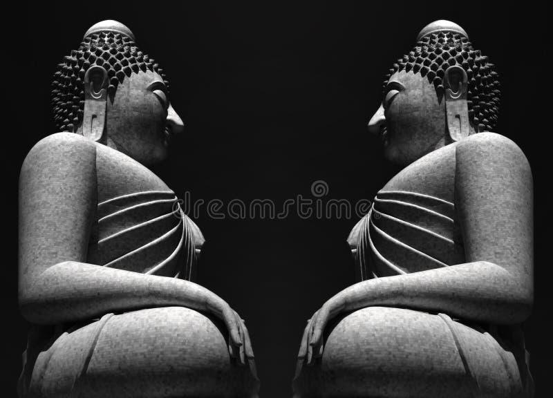Het Grijs van Boedha van Phuket stock afbeeldingen