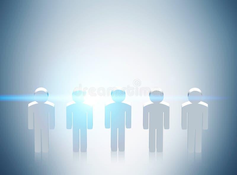 Het grijs van de mensenpictogrammen van het rekruteringsconcept royalty-vrije illustratie