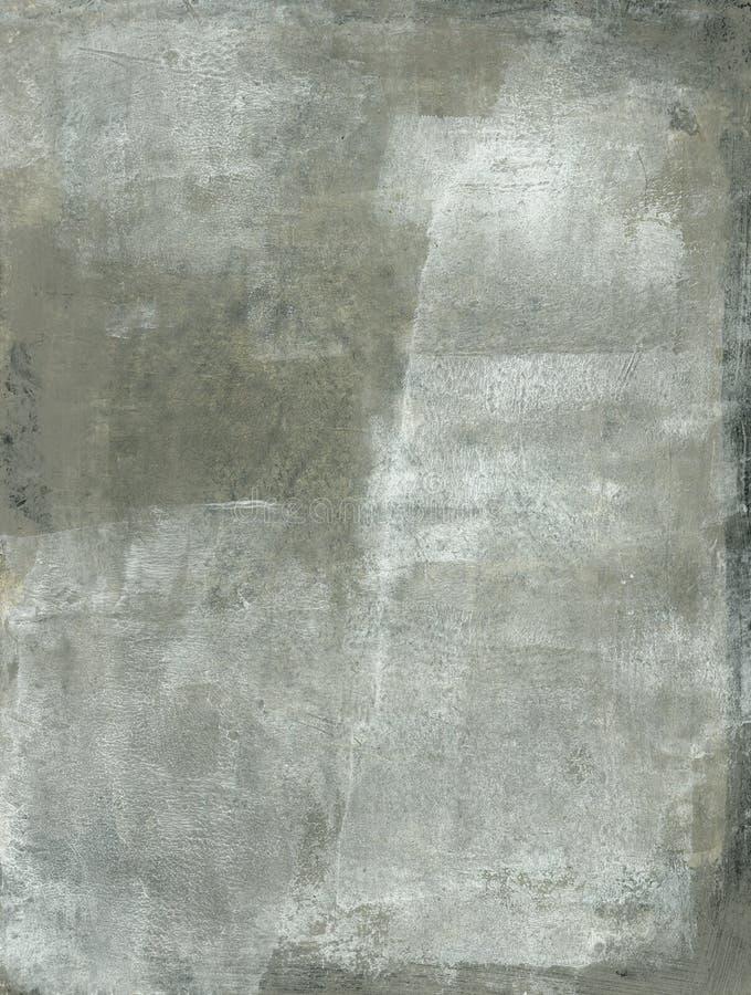 Het grijze Abstracte Schilderen stock afbeeldingen
