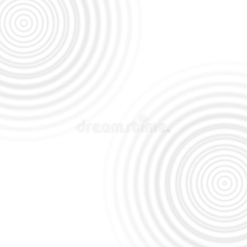 Het grijze effect van waterringen op witte achtergrond stock illustratie