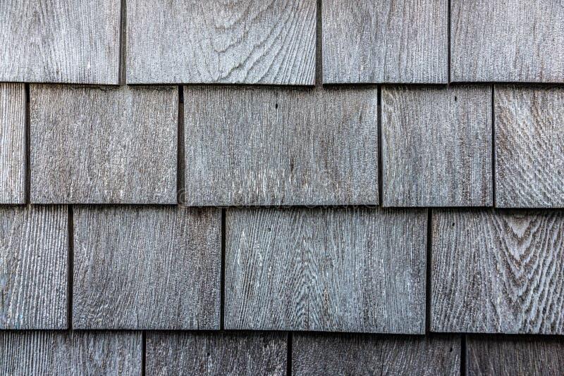Het grijze houten patroon van de dakspaantextuur stock foto's