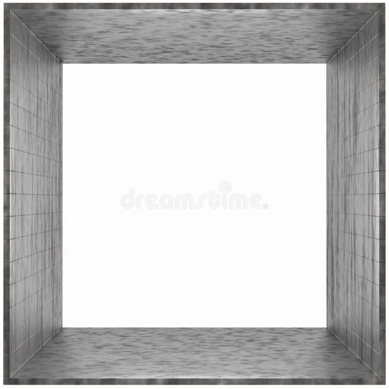 Het Grijze karton van het Frame van de doos vector illustratie
