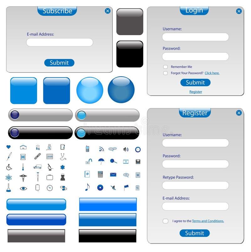 Het grijze Malplaatje van het Web stock illustratie