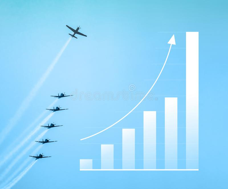 Het groeien verspert omhoog grafisch, pijl Verhoging op verkoop grafisch verstand royalty-vrije illustratie
